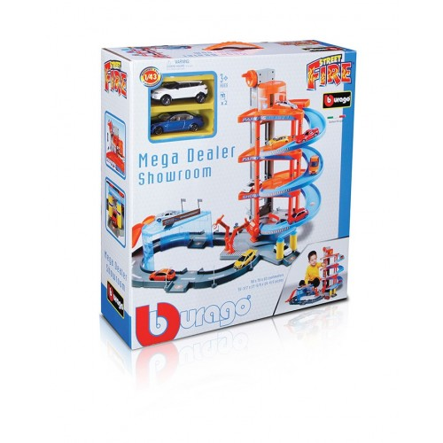 1:43 MEGA DEALER SHOWROOM, incl.2CAR