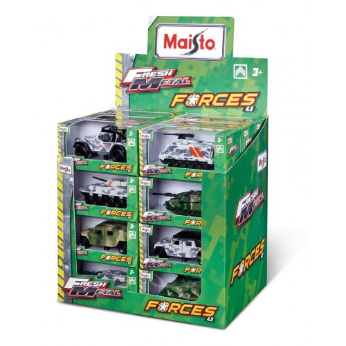 """FM Fresh Forces - 4.5"""" veh. (free wheel), boxed and Counter Display (24 x 1)"""