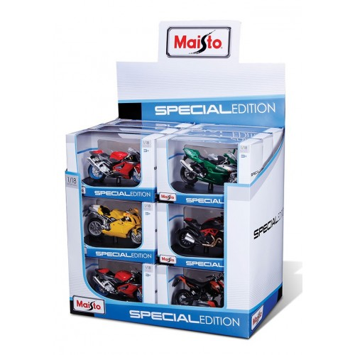 1:18 SE Motorcycles (with Stand, 18 pcs/cd)