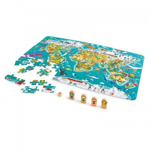 World Map Puzzle&Game (8 pcs/crt)