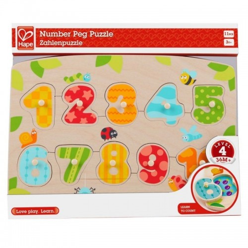 Number Peg Puzzle (12 pcs/crt)