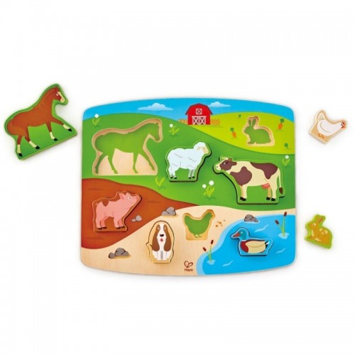 Farm Animal Puzzle & Play (12 pcs/crt)